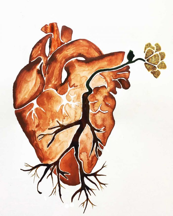 Rooted Heart Painting by Jacks McNamara
